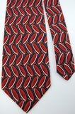 Jos A Bank Darkred Black Maroon Ovals Geometric Men Neck Tie I1-362 Ties