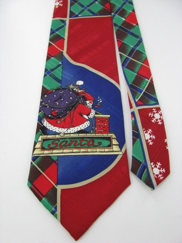 615 COLLECTION Christmas Santa Holiday SnowFlake RED GREEN Necktie tie X6-53 New