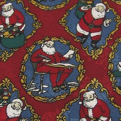 THINKING OF YOU Christmas Santa Holiday TOYS RED GOLD WHITENecktie tie X6-47 New
