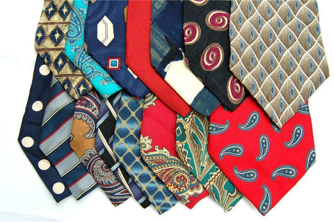 325 SILK MEN'S JOB Crafts/Quilts/School/Art  projects NECK TIE NECKTIE TIES LOT