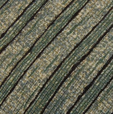 7th Ave USA Made Stripe Texure Olive Green Blk Men Necktie Tie Z2-176 NWT