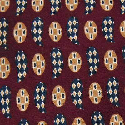 Abboud USA Made Art Deco Floral Maroon Brown Men Necktie Tie Z2-166