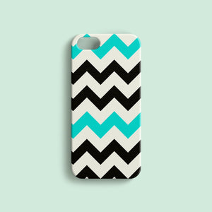 Black and Blue Chevron