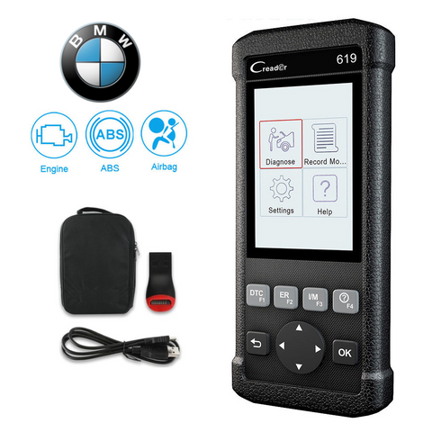 BMW SRS/Airbag, ABS & Engine Diagnostic Scanner Code Reader