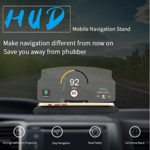 Smartphone Reflection Head Up Display Holder Mount