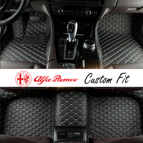 Alfa Romeo Leather Custom Fit Car Mat Set