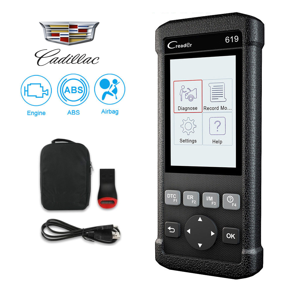 Cadillac SRS/Airbag, ABS & Engine Diagnostic Scanner Code Reader