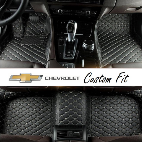 Chevrolet Leather Custom Fit Car Mat Set