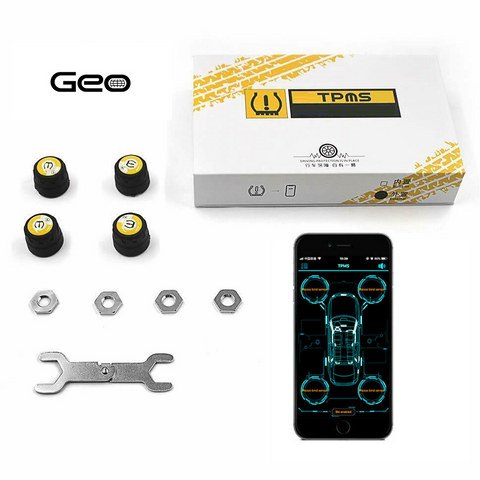 Geo Bluetooth Tire Pressure Monitoring System (TPMS)