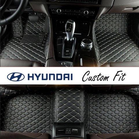 Hyundai Leather Custom Fit Car Mat Set