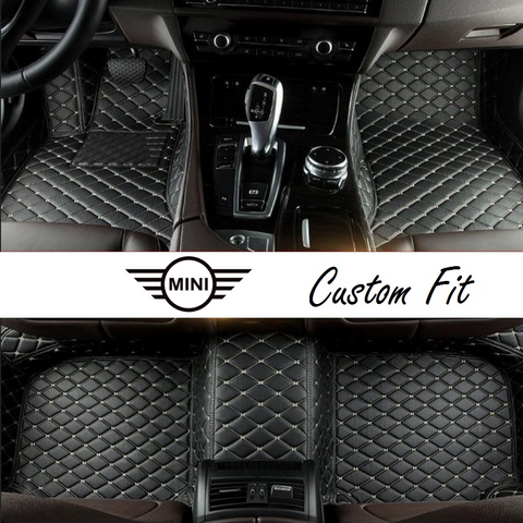 Mini Leather Custom Fit Car Mat Set
