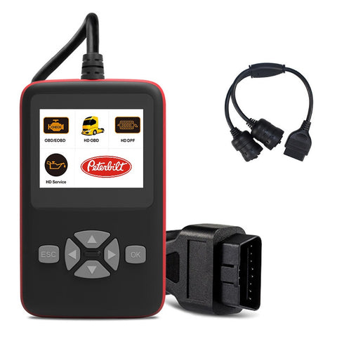 Peterbilt Truck Diagnostic Scanner, DPF Regen, Oil Reset Tool