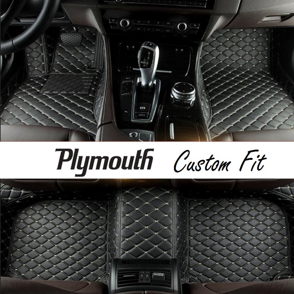 Plymouth Leather Custom Fit Car Mat Set