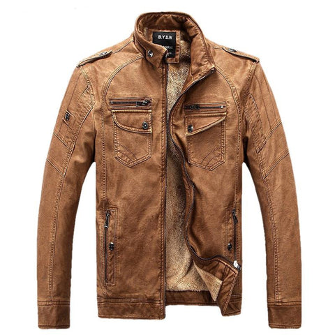 """The Pilot"" Motoring and Motorcycle Street Wear Exclusive Leather Jacket"