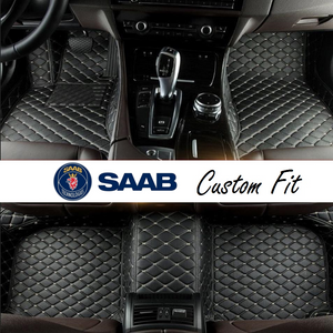 Saab Leather Custom Fit Car Mat Set