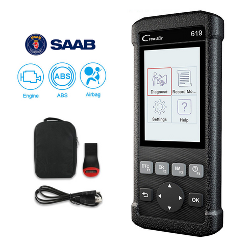 Saab SRS/Airbag, ABS & Engine Diagnostic Scanner Code Reader