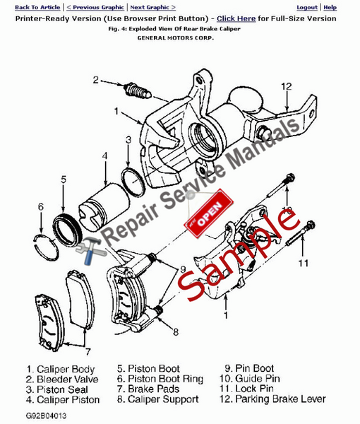 1984 Chevrolet Pickup K10 Repair Manual (Instant Access)
