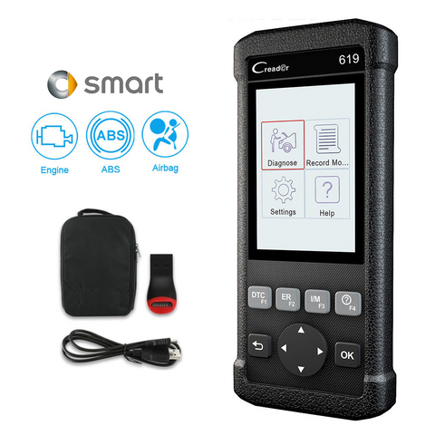 Smart Car SRS/Airbag, ABS & Engine Diagnostic Scanner Code Reader