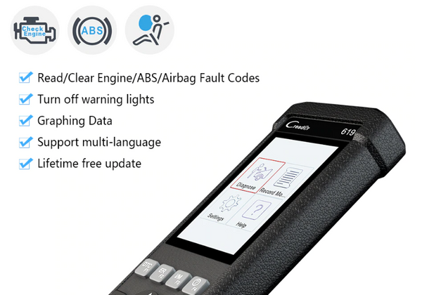Mitsubishi SRS/Airbag, ABS & Engine Diagnostic Scanner Code Reader