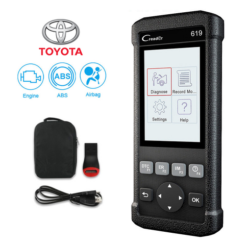 Toyota SRS/Airbag, ABS & Engine Diagnostic Scanner Code Reader