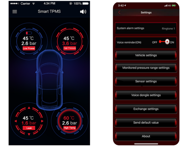 Jaguar Bluetooth Tire Pressure Monitoring System (TPMS)