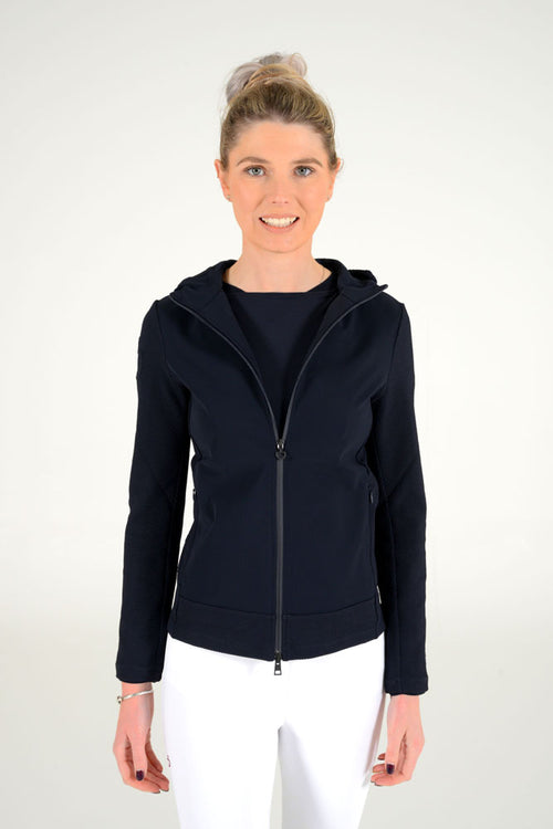 Cavalleria Toscana - Embossed Jersey Hooded Jacket
