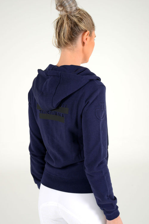 Cavalleria Toscana - Peekaboo CT Hooded Sweatshirt - Navy