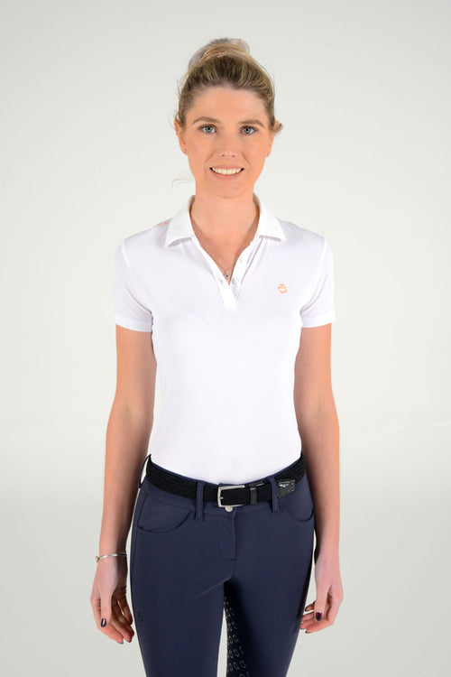 Cavalleria Toscana - Tech Piquet Training Polo with Laser Cut Logo