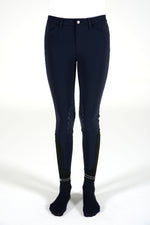 Laser Cut CT Detail Young Rider Breeches - Navy