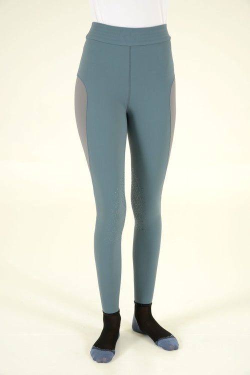 Cavalleria Toscana - High-waisted Jersery Training Breeches - Sage/Grey