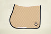 Cavalleria Toscana - Quilted Row Jersey Jumping Saddle Pad - Beige/Navy