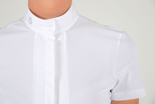 Cavalleria Toscana - Pleated Jersey Competition Shirt S/S - White