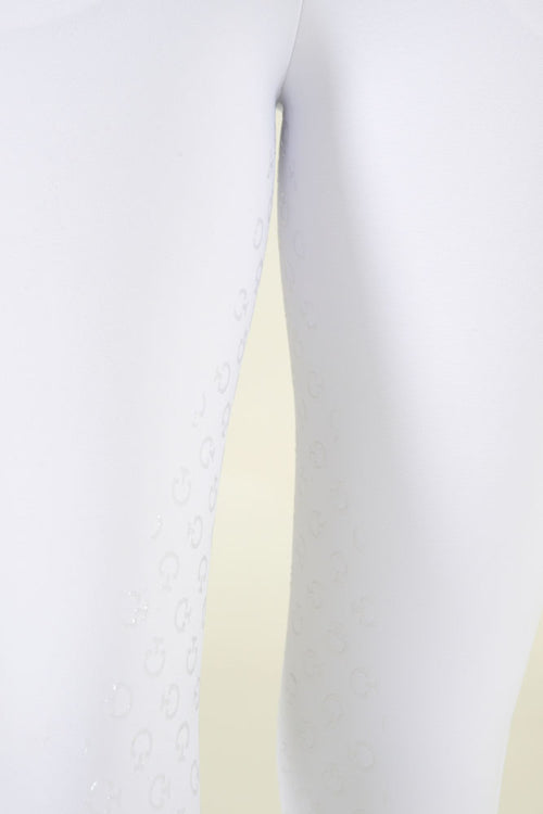 American Breeches w/ Perf Logo Tape Piquet - White