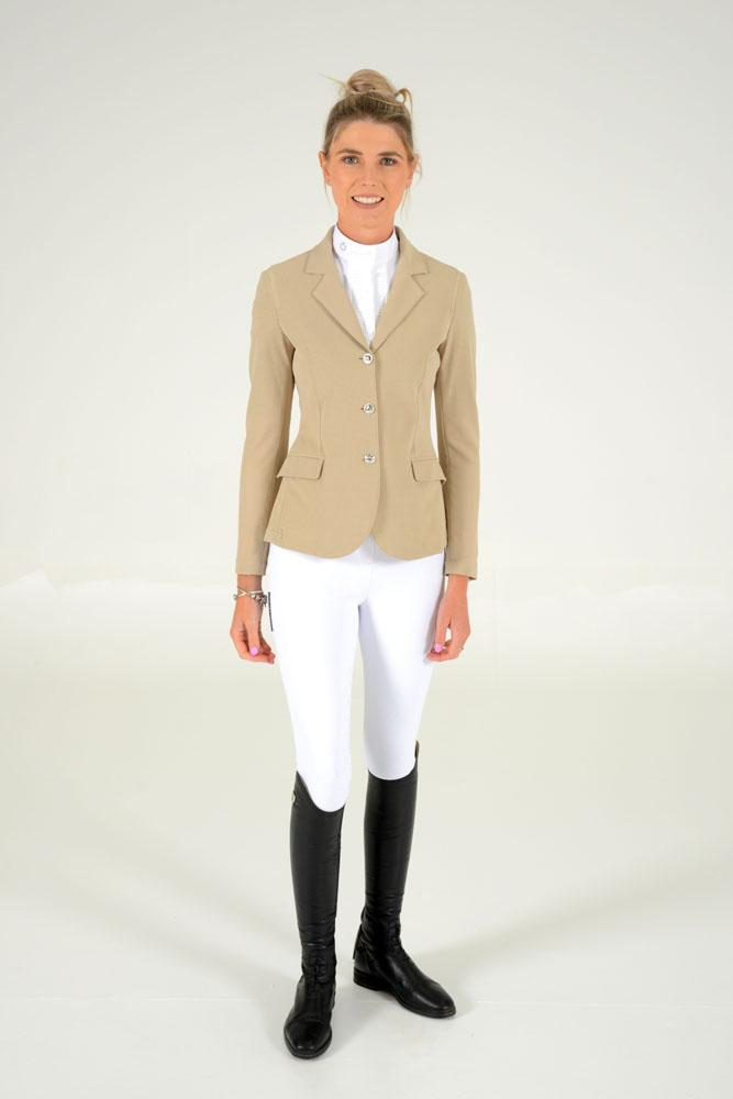 Cavalleria Toscana - All-over Perforated Competition Jacket - Beige