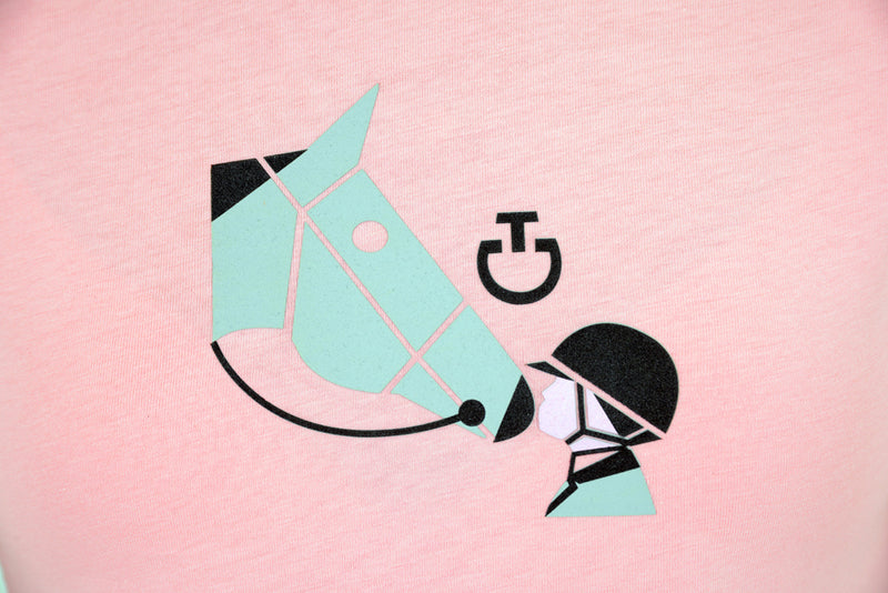 Cavalleria Toscana - Girl's Love Horses Cotton T-Shirt - Pink
