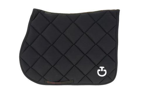 Cavalleria Toscana - Jersey Quilted Rhombi Jumping Saddle Pad - Black