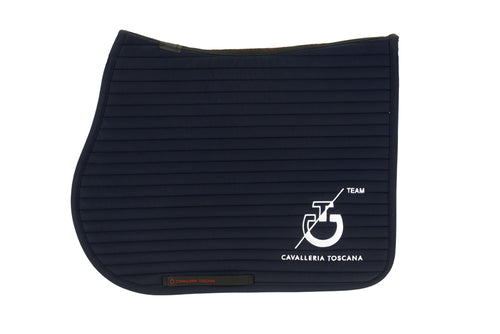 Cavalleria Toscana - CT Team Jumping Saddle Pad - Navy