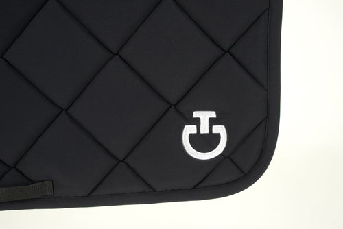 Cavalleria Toscana - Jersey Quilted Rhombi Dressage Saddle Pad - Black