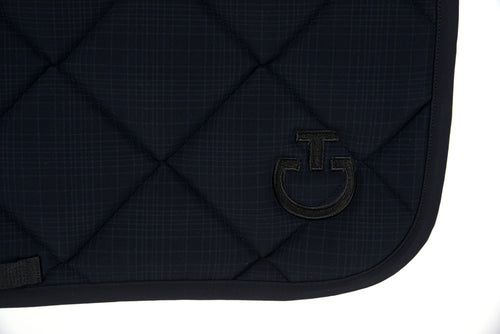 Cavalleria Toscana - Jersey Quilted Rhombi Dressage Saddle Pad - Plaid Print