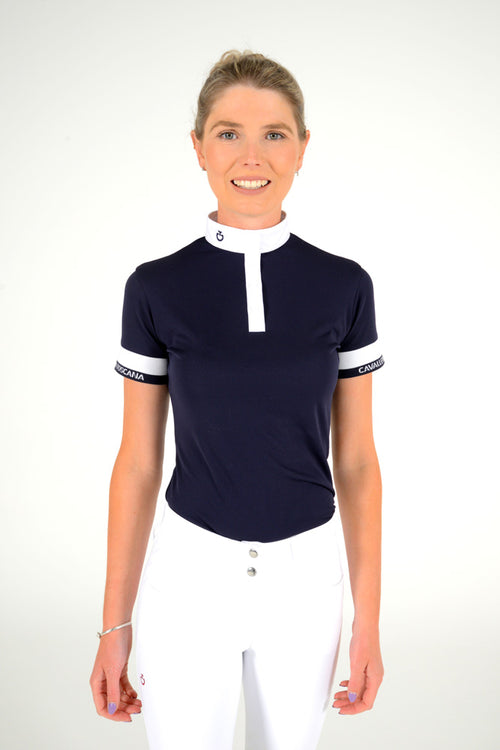 Cavalleria Toscana - Jersey Piquet S/S Competition Polo - Navy