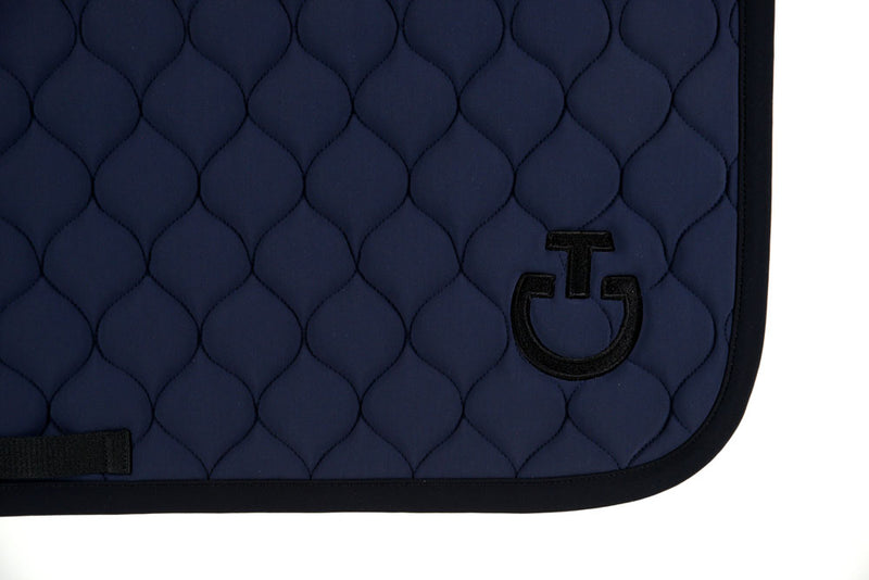 Cavalleria Toscana - Circular Quilted Jumping Saddle Pad - Ink/Black