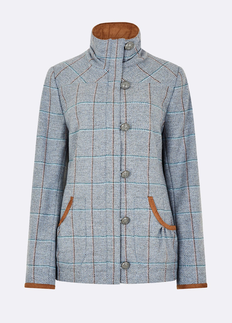 Dubarry Bracken Tweed Jacket - Blue Heather