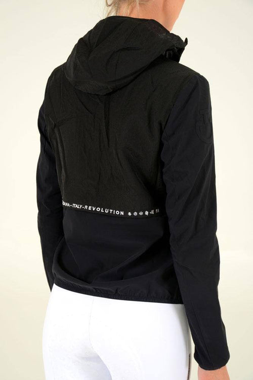 Cavalleria Toscana - R-Lab Wind Blocker Hooded Jacket - Black