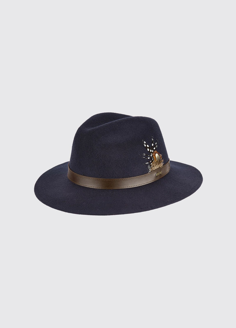 Dubarry Gallagher Felt Hat - Navy