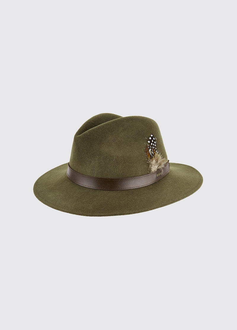 Dubarry Gallagher Felt Hat - Olive