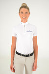 Cavalleria Toscana - CT Fully Perforated Jersey S/S Zip Polo - White