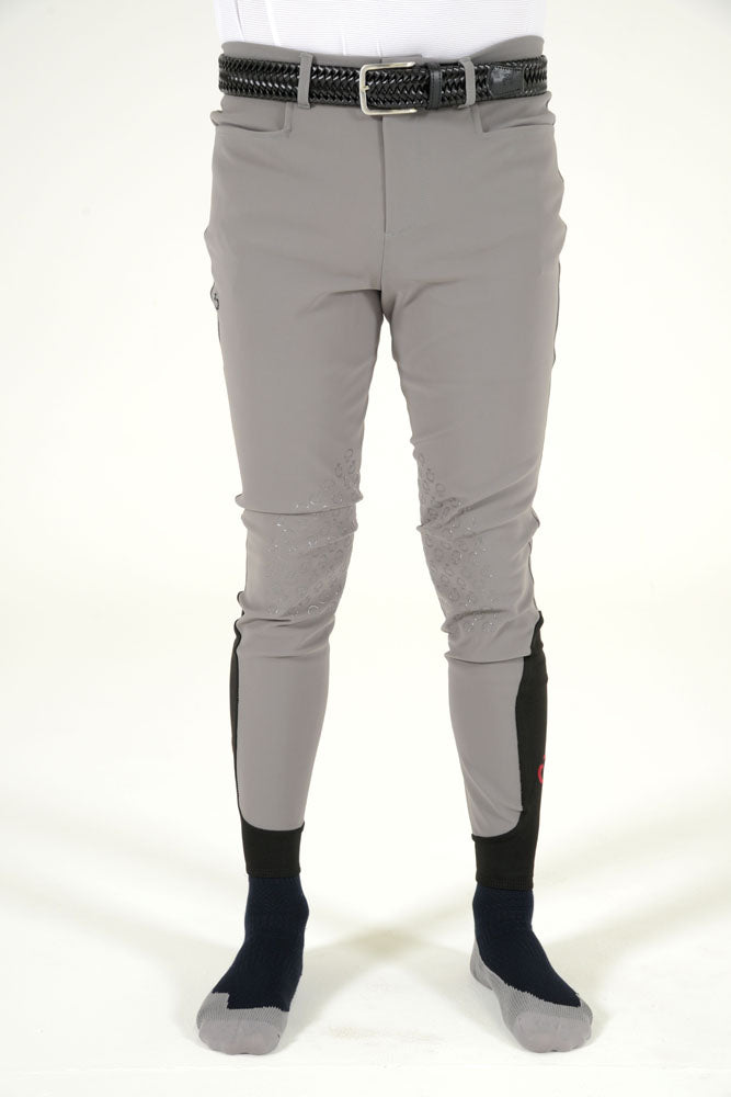 Cavalleria Toscana Men's New Grip System Breeches - Steel Grey