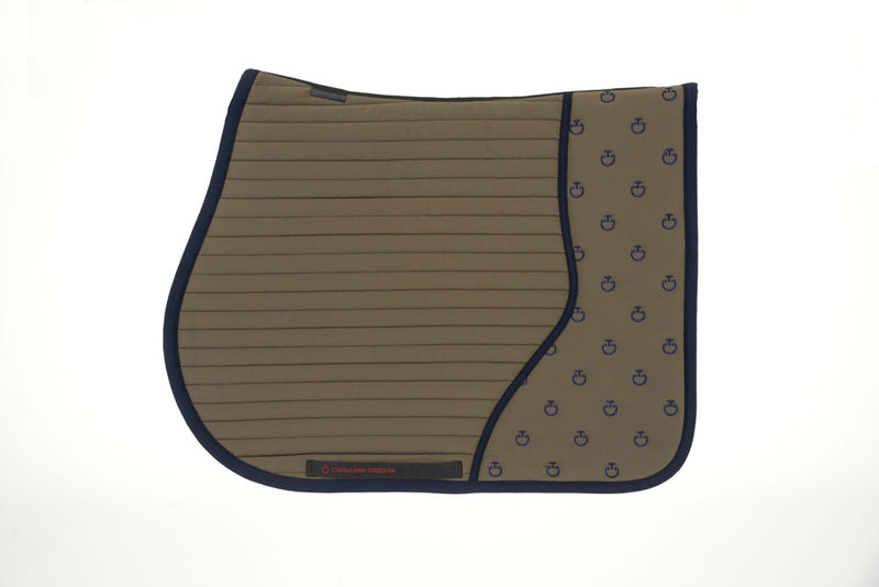 Cavalleria Toscana - CT Quilted Insert Jumping Saddle Pad - Moss Green/Navy