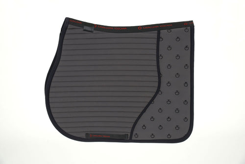 Cavalleria Toscana - CT Quilted Insert Jumping Saddle Pad - Smokey Grey/Black