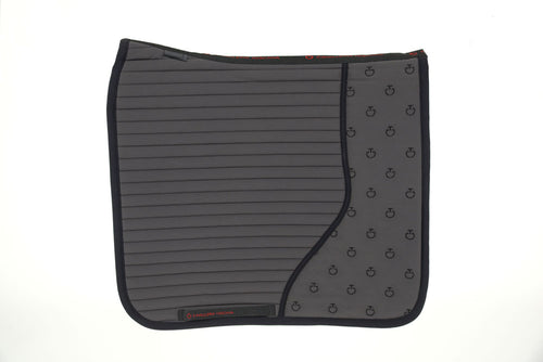 Cavalleria Toscana - CT Quilted Insert Dressage Saddle Pad - Smokey Grey/Black